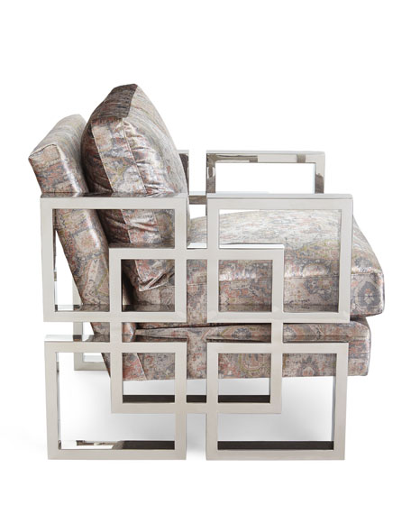 Luxe Stainless Steel Arm Chair