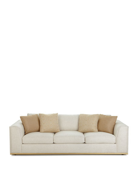 "Bernhardt Prauge Golden-Base Sofa 107.5"""