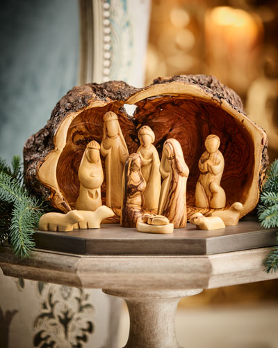 Cave and Nativity Set