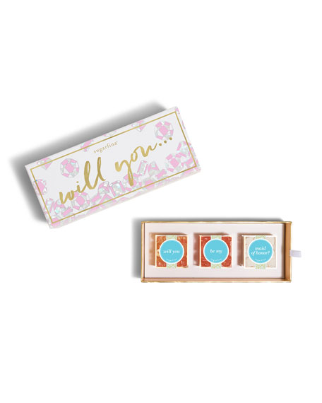 Sugarfina Will You Be My Maid Of Honor 3-Piece Bento Box