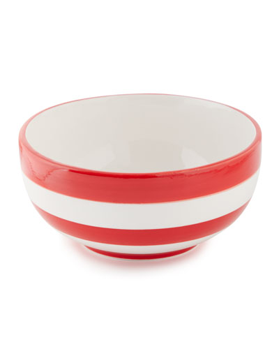 Stars and Stripes Striped Bowl