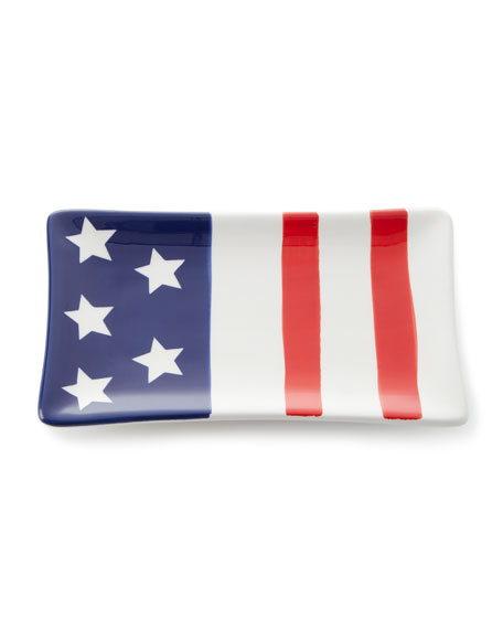 Stars and Stripes Tidbit Plate