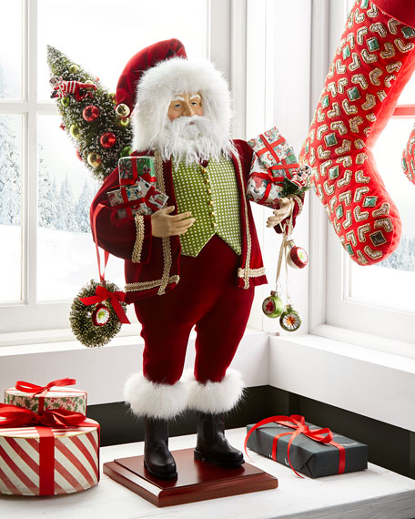 Lynn Haney Tinsel Town Santa Figure with Packages