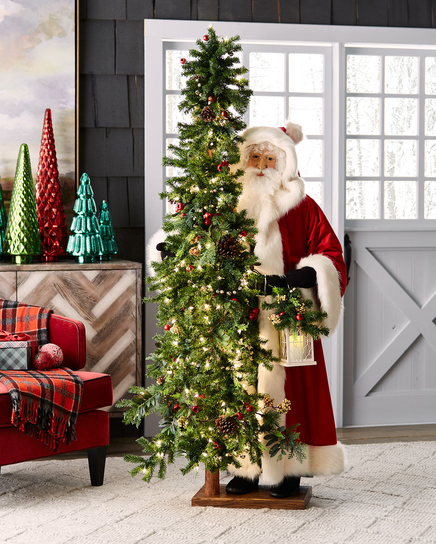 Neimanmarcus Christmas.Rose Apple Christmas Santa With Tree