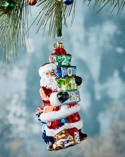 2018 Unwrapping Santa Christmas Ornament