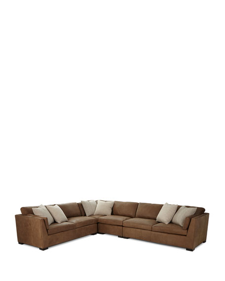 Ellington Leather 4-Piece Sectional