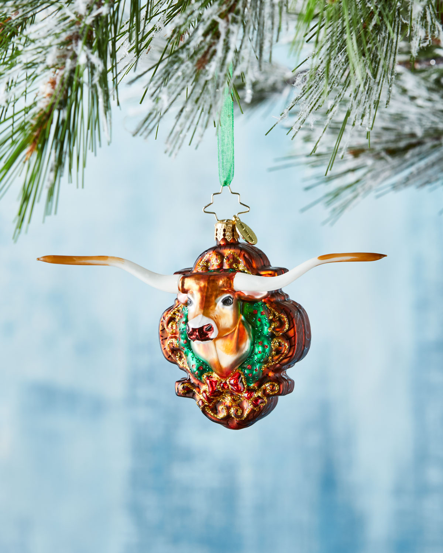 Christopher Radko Longhorn Holiday Christmas Ornament ...