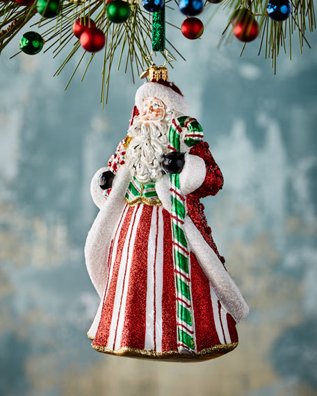Peppermint Candy Kris Kringle Christmas Ornament