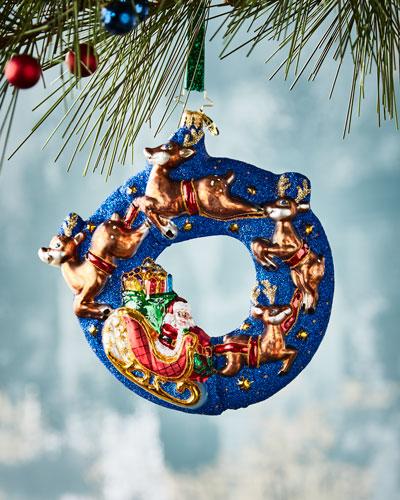 Santa Midnight Ride  Christmas Ornament
