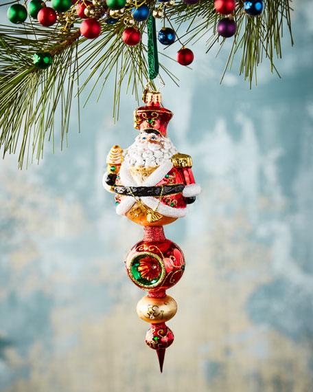 Christopher Radko Get to the Point Santa Christmas