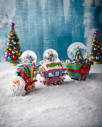 Choo Choo Santa Snow Globe