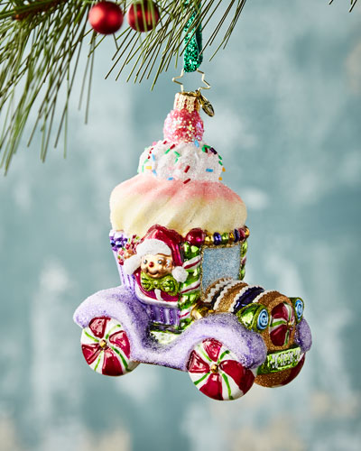 Hop in Cupcake Car  Christmas Ornament