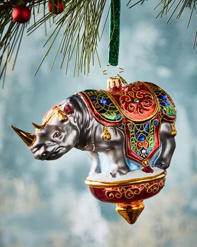 Royal Rhino Ornament