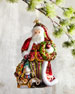 John Huras Santa With Wreath Christmas Ornament