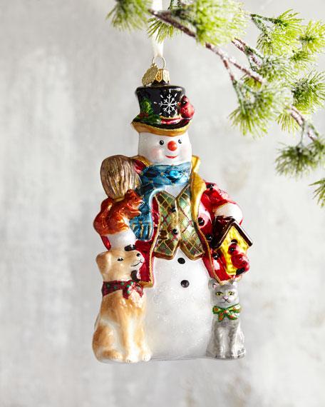 John Huras Snowman Christmas Ornament