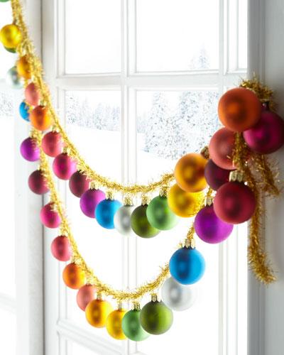 Rainbow & Tinsel Christmas Garland, 72