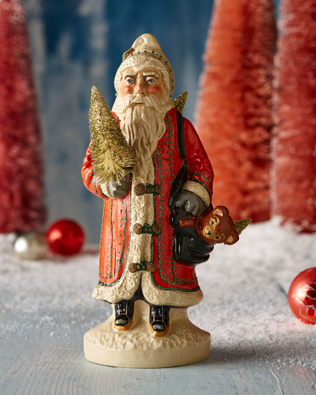 Vaillancourt Folk Art Big Gold European Father Christmas