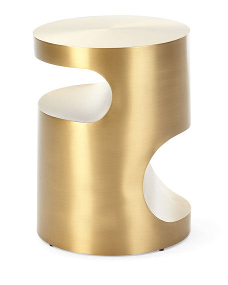 Regina Andrew Design Nico Brass-Finish Side Table