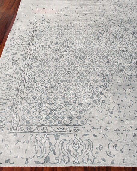 Image 1 of 3: Exquisite Rugs Caidence Hand-Knotted Rug, 10' x 14'