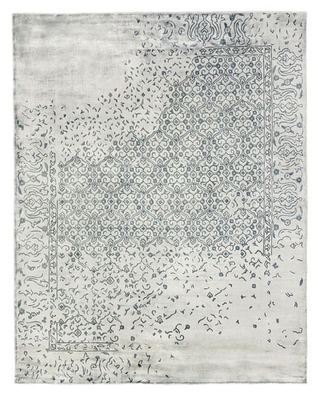 Image 3 of 3: Exquisite Rugs Caidence Hand-Knotted Rug, 6' x 9'
