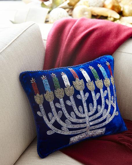 Sudha Pennathur Hanukkah Menorah Pillow