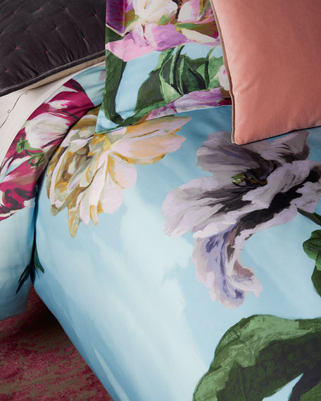 Designers Guild Delft Flower Sky Queen Duvet Cover