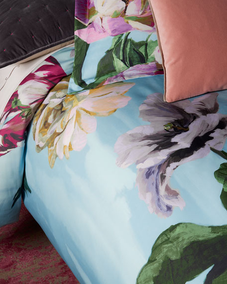 Designers Guild Delft Flower Sky King Duvet Cover