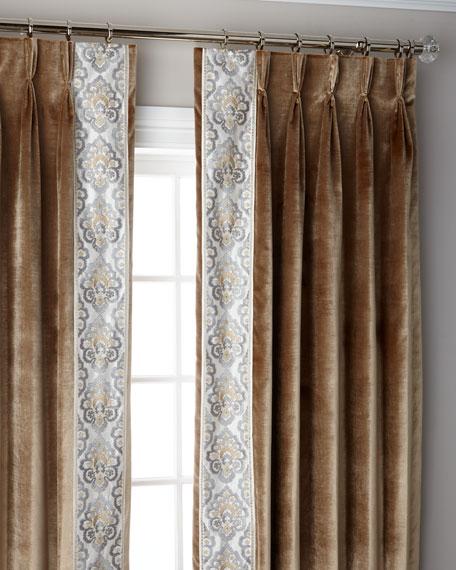 "Misti Thomas Modern Luxuries Caramel Provence 3-Fold Pinch Pleat Blackout Curtain Panel, 96"""