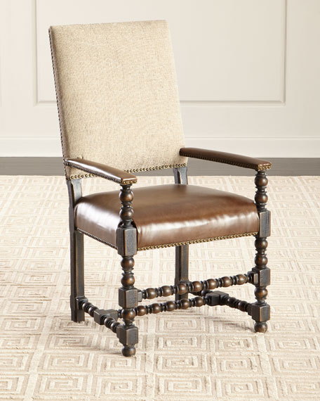 Image 2 of 5: Hooker Furniture Pair of Casella Dining Arm Chairs