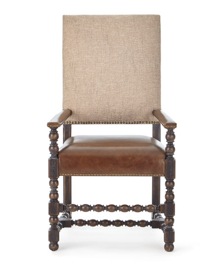 Image 3 of 5: Hooker Furniture Pair of Casella Dining Arm Chairs