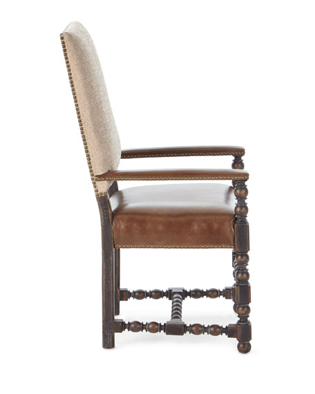 Image 4 of 5: Hooker Furniture Pair of Casella Dining Arm Chairs