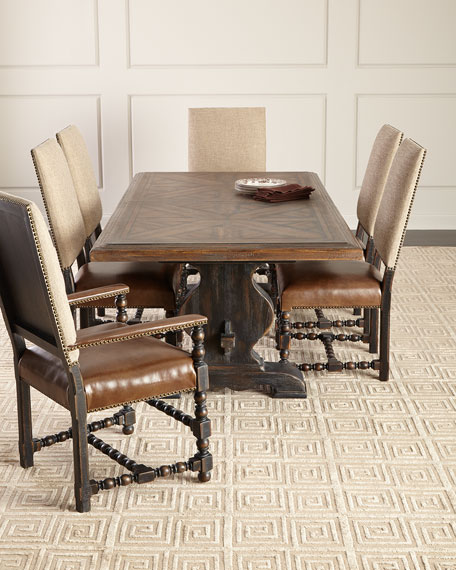 Image 1 of 5: Hooker Furniture Pair of Casella Dining Arm Chairs