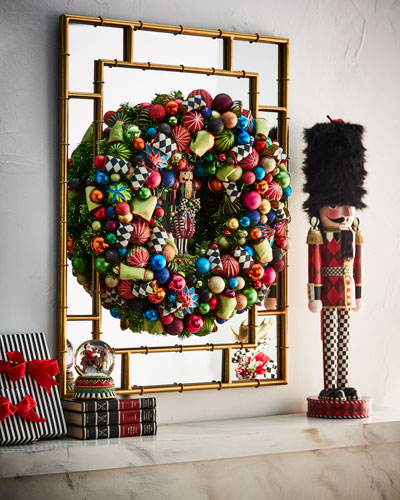 mackenzie childs nutcracker large christmas wreath 30 - Large Christmas Wreath