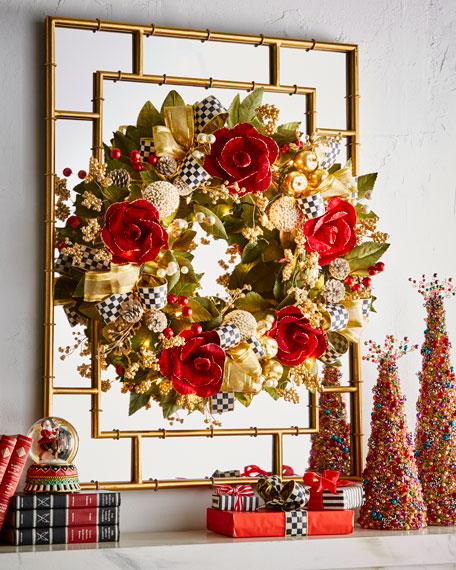MacKenzie-Childs Garnet Magnolia Large Wreath
