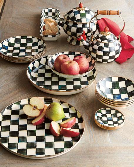 MacKenzie-Childs Courtly Check Enamel Abundant Bowl