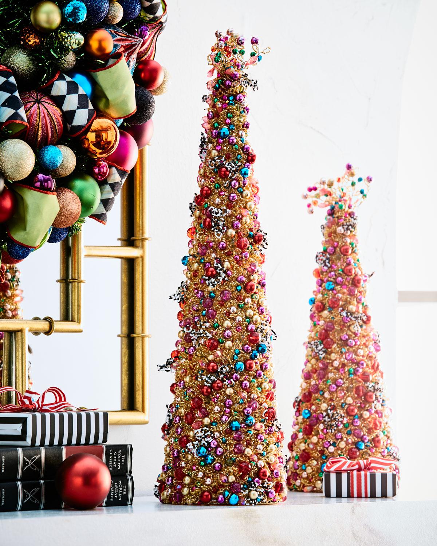 "Bijou Beaded Tabletop Christmas Tree, 22"" by Mac Kenzie Childs"