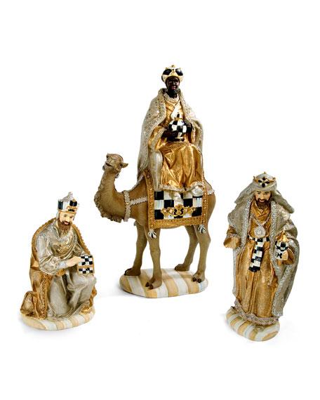 MacKenzie-Childs silver lining nativity three