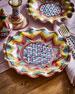 MacKenzie-Childs Taylor Fluted Keukenhof Dinner Plate