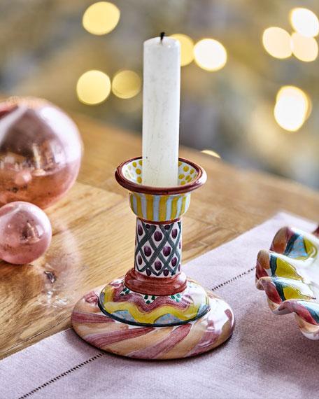 MacKenzie-Childs Taylor Keukenhof Column Candlestick Holder