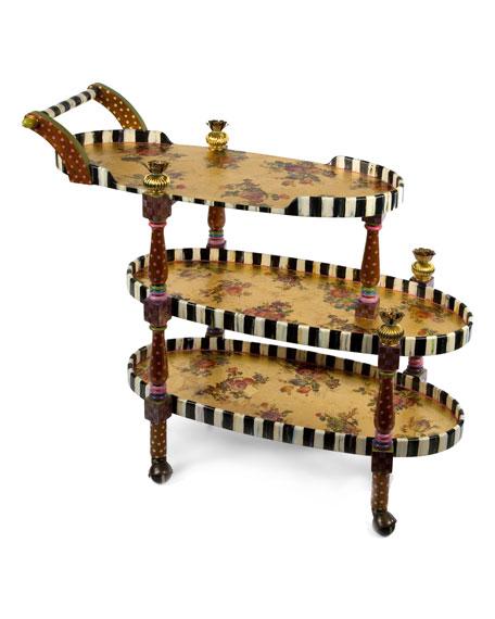 MacKenzie-Childs Bellhop Bar Cart