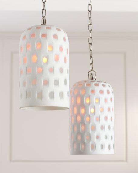 Lattice Glass Lighting Pendant