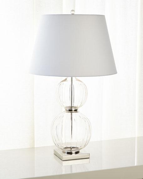 Clear Cut Glass Table Lamp
