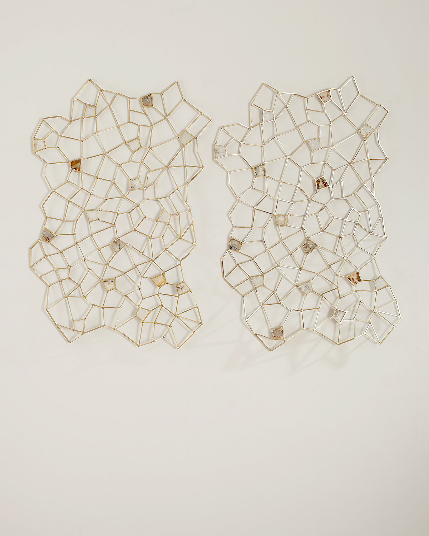 Agate Rock Crystal Geometric Wall Decor