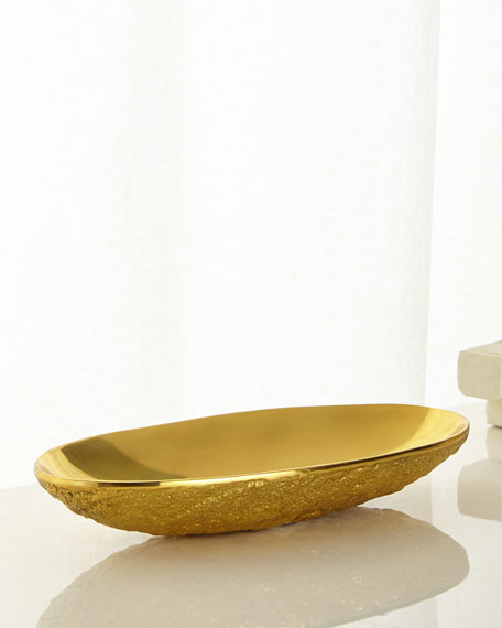 Jonathan Adler Medium Brutalist Brass Bowl
