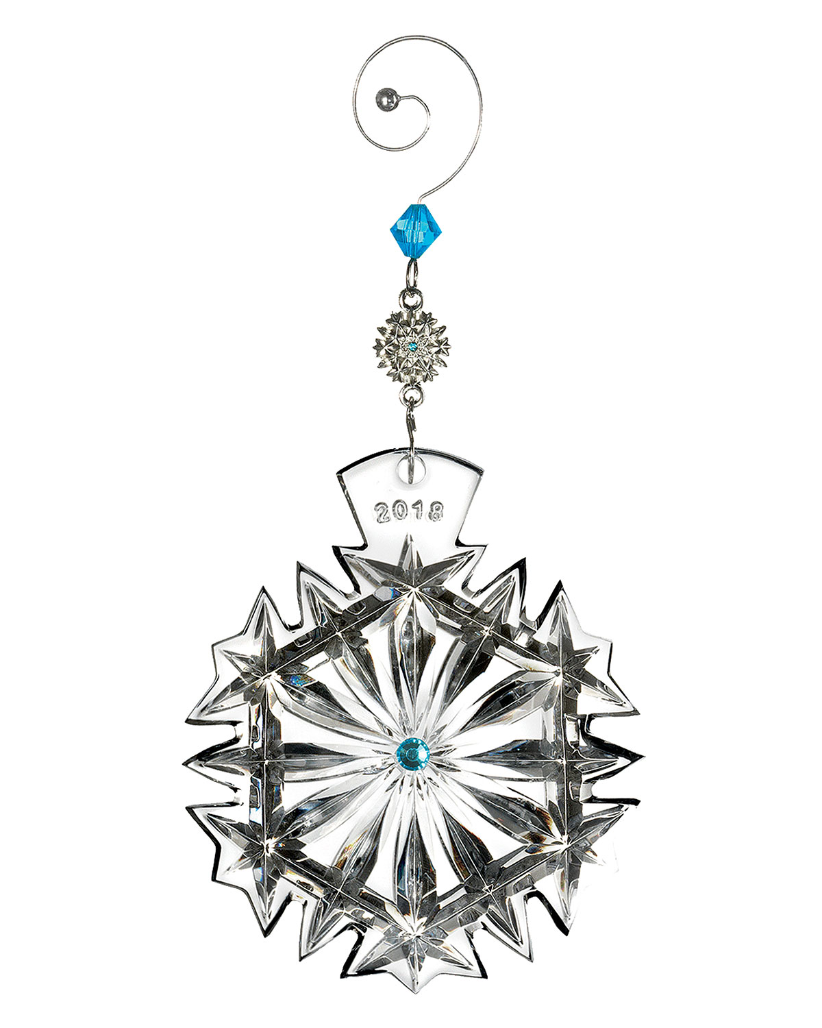 Waterford Crystal 2018 Snowflake Wishes Happiness Christmas Ornament ...