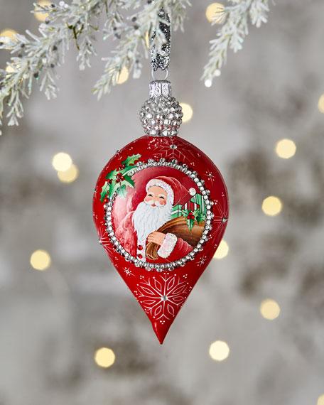 Patricia Breen Gouttelette Santa Drop Ornament