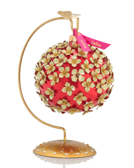 Floral Embellished Ornament with Stand