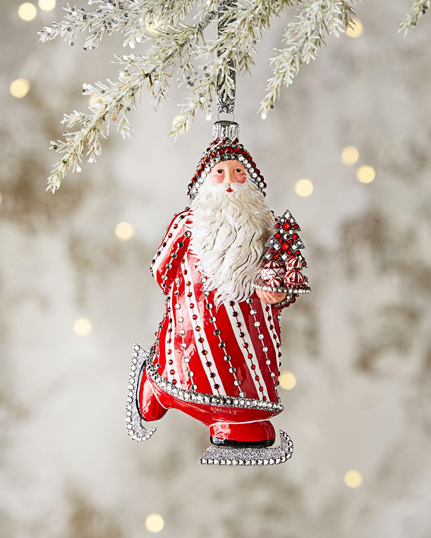 Patricia Breen Skating Claus Ornament   Neiman Marcus