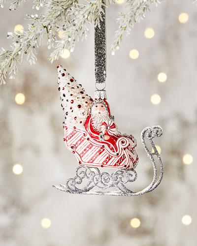 Sky Rider Santa & Sleigh Ornament