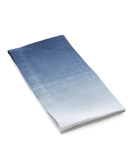 Dip Dye Dinner Napkin, Blue